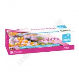 Gargola Fitovial Attac Sakai 12 viales - Gargola Fitovial Attac es una composición en prácticos viales bebibles, de acción inmediata ante los síntomas del resfriado, combatiéndolos rápidamente y de forma eficaz.