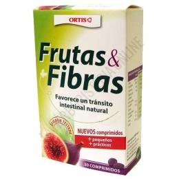Fruta y Fibra tránsito intestinal Ortis 30 comprimidos -