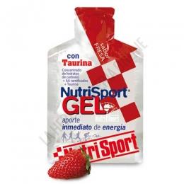 Gel con taurina Nutrisport sabor fresa 40 gr. - Nutrisport Gel con Taurina asegura un aporte de energía inmediato y prolongado gracias a su mecanismo de absorción sostenida y a la combinación en su fórmula de hidratos de carbono de cadena larga y corta.