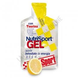 Gel con taurina Nutrisport sabor limón 40 gr. - Nutrisport Gel con Taurina asegura un aporte de energía inmediato y prolongado gracias a su mecanismo de absorción sostenida y a la combinación en su fórmula de hidratos de carbono de cadena larga y corta.
