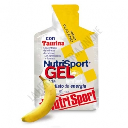 Gel con taurina Nutrisport sabor plátano 40 gr.