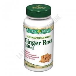 Raíz de Jengibre Natures Bounty 100 cápsulas - Ginger Root de Natures Bounty contiene 550 mg. de raíz de jengibre por cápsula, utilizado tradicionalmente por sus propiedades digestivas y para el bienestar de las articulaciones.