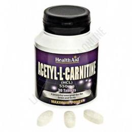 Acetyl L-Carnitina 550 mg. Health Aid 30 comprimidos - Acetyl L-Carnitine de Health Aid contiene 550 mg. de Acetil-L-Carnitina por comprimido.