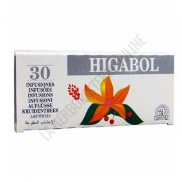 Higabol 30 infusiones Laboratorios Abad (anteriormente Kiluva) - Higabol es una fórmula específica de plantas para el cuidado del hígado, en prácticas bolsitas para infusión.