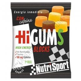 HiGums Blocks con cafeína Nutrisport 10 uds.