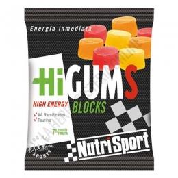 HiGums Blocks sin cafeína Nutrisport 10 uds.