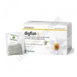 Infusión Digestiva Digflat-3 Herboplant Herbora 20 bolsitas - Digflat 3 es una mezcla de plantas medicinales tradicionalmente digestivas para infusión: manzanilla, alcachofera, hinojo y menta poleo.