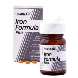 Hierro Complex Health Aid 100 comprimidos - Iron Formula Plus de Health Aid es una completa combinación de hierro y vitaminas de fácil absorción y suave para el estómago.