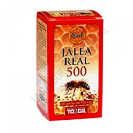 Apicol Jalea Real 500 Tongil 60 perlas - Perlas de Jalea Real liofilizada, aceite de germen de trigo y vitamina E.