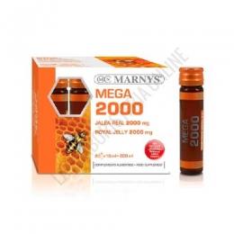 Jalea Real Mega 2000 mg. sin azúcares añadidos Marnys 20 viales - La Jalea Real MEGA 2000 mg. de Marnys es un complemento alimenticio sin azúcares añadidos a base de 2000 mg. de Jalea Real y 10 mg. de vitamina C por vial.