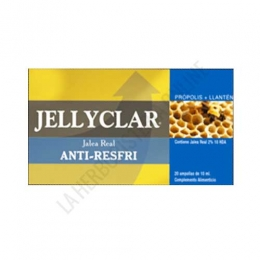 Jalea Real Anti-Resfri Jellyclar 20 ampollas - La Jalea Real Anti-Resfri de Jellyclar potencia los conocidos beneficios de la jalea real con la acción del Tomillo, Propóleo y la Vitamina C.