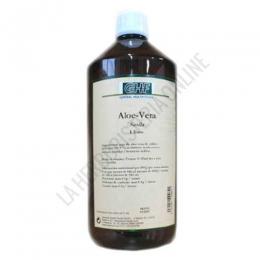 Jugo de Aloe Vera GHF 1 litro - El jugo de Aloe Vera GHF, a base de jugo de aloe vera de cultivo ecológico en un 99,4%,  se presenta en envase de 1 litro. Útil para afecciones estomacales como gastritis y también en caso de estreñimiento.