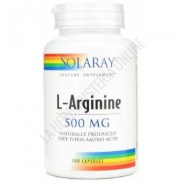L-Arginina en forma libre 500 mg. Solaray 100 cápsulas - L-Arginine de Solaray contiene 500 mg. de L-Arginina en forma libre por cápsula, para maximizar su absorción por parte del organismo.