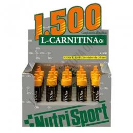 L-Carnitina 1500 mg. líquida Nutrisport sabor naranja caja 20 viales