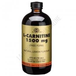L-Carnitina líquida 1500 mg. en forma libre Solgar bote 473 ml. - L-Carnitine 1500 mg. aporta 1500 mg. de L-Carnitina pura en forma libre para su máxima absorción, con un agradable sabor a limón.