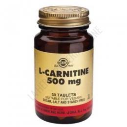 L-Carnitina 500 mg. Solgar 30 comprimidos - L-Carnitine de Solgar aporta 500 mg. de L-Carnitina por 1 comprimido, en forma libre para maximizar su absorción.
