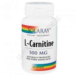 L-Carnitina 500 mg. Solaray en forma libre 30 cápsulas - L-Carnitine de Solaray contiene 500 mg. de L-Carnitina en forma libre por cápsula, para maximizar su capacidad de absorción.