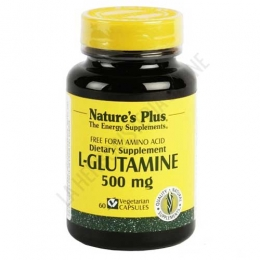 L-Glutamina 500 mg. en forma libre Natures Plus 60 cápsulas