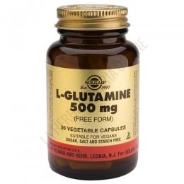 L-Glutamina en forma libre 500 mg. Solgar 50 cápsulas