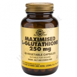 L-Glutation Maximizado 250 mg. Solgar 60 cápsulas