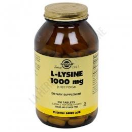 L-Lisina 1000 mg. en forma libre Solgar 250 comprimidos
