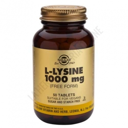 L-Lisina 1000 mg. en forma libre Solgar 50 comprimidos