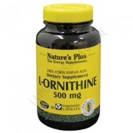 L-Ornitina 500 mg. en forma libre Natures Plus 90 cápsulas