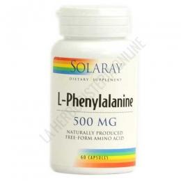 L-Fenilalanina en forma libre 500 mg. Solaray 60 cápsulas