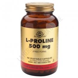 L-Prolina 500 mg. en forma libre Solgar 100 cápsulas
