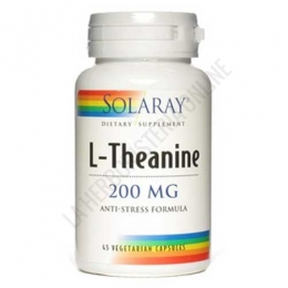 L-Theanina 200 mg. Solaray 45 cápsulas - L-Theanine de Solaray contiene 200 mg. de L-Theanina y 100 mg. de hoja de té verde en una fórmula