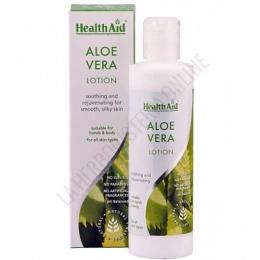 Loción Aloe Vera cuerpo y manos Healh Aid 250 ml. - La loción para cuerpo y manos de Aloe Vera 100% natural de Health Aid contiene Aloe Vera de alta calidad. Se absorbe fácilmente, es de textura no grasa y ayuda a calmar, hidratar y restaurar el brillo natural de la piel.