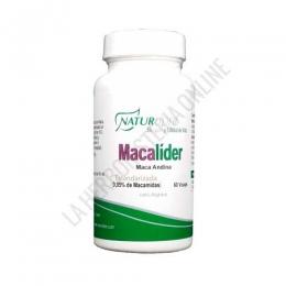 Macalíder Maca Andina estandarizada Naturlíder 60 cápsulas - Macalider de Naturlider es una formulación a base de Maca estandarizada al 0,05% de Macamidas y 50 mg. de L-Arginina, especialmente útil para ayudar a incrementar la líbido y la fertilidad.