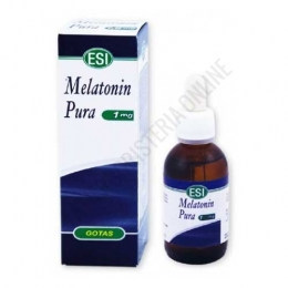 Melatonin Pura gotas 1 mg. Esi 50 ml. - Melatonin Pura de Esi aporta 1 mg. de melatonina de acción rápida gracias a su cómoda aplicación en gotas, muy útil para favorecer la conciliación y mantenimiento del sueño.