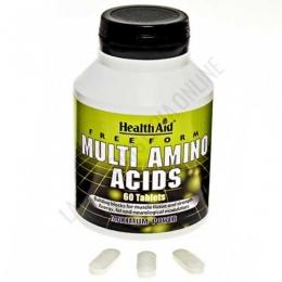 Multi Amino Acids en forma libre Health Aid 60 comprimidos