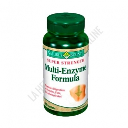 Multi Enzyme Formula Natures Bounty 60 comprimidos - PRODUCTO DESCATALOGADO  POR EL LABORATORIO FABRICANTE. Como alternativa sí disponible le recomendamos:   