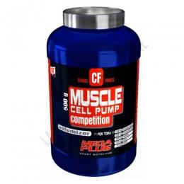 Muscle Cell Pump Competition Mega Plus bote 500 gr. - Muscle Cell Pump Competition sabor frutos cítricos de Mega Plus es una formula revolucionaria que incorpora los principios activos más novedosos para potenciar el crecimiento muscular a partir de la biosíntesis del óxido nítrico (NO).