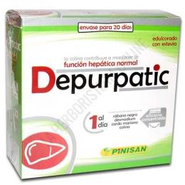 Depurpatic Pinisan 20 viales abrefácil - El nuevo Depurpatic de Pinisan contiene ingredientes de máxima calidad ahora en una nueva presentación: viales abrefácil. Con extractos titulados de eficacia concentrada y edulcorado con estevia, es un producto ideal para el cuidado de la salud hepática.