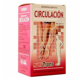 Nutriorgans Circulación Tongil 40 cápsulas - Nutriorgans Circulación en cápsulas contiene nutrientes específicos que ayudan a dinamizar la circulación sanguínea de manera natural.