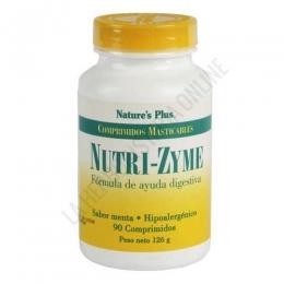 Nutrizyme ayuda digestiva Natures Plus 90 comprimidos masticables