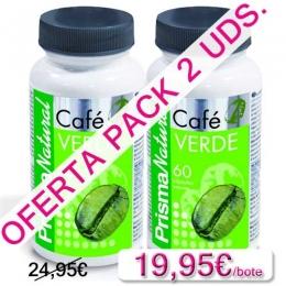 OFERTA 2 uds. Café Verde Prisma Natural 60 cápsulas - Las cápsulas de Café Verde de Prisma Natural son un complemento ideal para favorecer la pérdida de peso, el metabolismo energético y en particular la reducción del volumen abdominal.