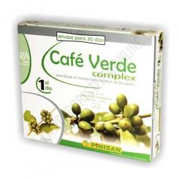 Cafe Verde Complex Pinisan 30 cápsulas - ENVASE PARA 30 DÍAS.