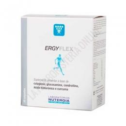 Ergyflex huesos, articulaciones y piel Nutergia 30 sobres - Ergyflex sobres de Nutergia es un complemento ideal para el cuidado de huesos, articulaciones y piel, formulado a base de Colágeno, Glucosamina,  Condroitina, Ácido Hialurónico y Cúrcuma.