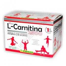 L-Carnitina 2500 mg. líquida Pinisan 6 viales - L-Carnitina 2500 de Pinisan es una completa y potente fórmula que contiene por vial  2500 mg. de L-Carnitina, reforzada con Vitamina C, Colina e Inositol. PRODUCTO DESCATALOGADO POR EL LABORATORIO FABRICANTE. Como alternativa sí disponible le recomendamos: L-Carnitina 2000 Pinisan 15 viales -Pulse aquí para ver el producto.