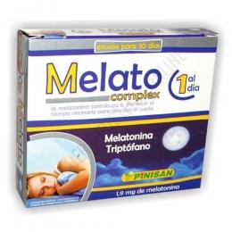 Melato Complex melatonina triptófano Pinisan 30 cápsulas - Melato Complex de Pinisan es una formulación específicamente pensada para ayudar a conciliar el sueño, en prácticas cápsulas de 1 sola toma al día.