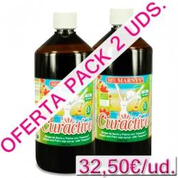 PACK 2 uds. Sirope de Savia y Palma BIO con Tranzamin® Curactive Marnys 1 litro