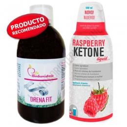OFERTA PACK Depurativo Quemador 1 Drenafit + 1 Raspberry Ketone Liquid Biocol 500 ml. - OFERTA Pack Completo Detox - Quemador, compuesto por 1 ud. de Drenafit + 1 ud. de Raspberry Ketone Liquid de Biocol. Formulación que contribuye a eliminar líquidos y toxinas acumulados en exceso en el organismo y a estimular la quema de grasas.