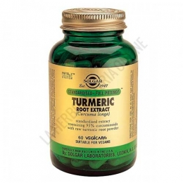 Curcuma Raiz (Turmeric Root Extract) Solgar 60 cápsulas vegetales -