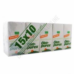 Pañuelos de bolsillo 100% reciclados Öko-Purex 15 paquetes -