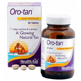 Oro Tan vitaminas bronceado Health Aid 60 comprimidos -