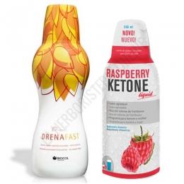 OFERTA PACK 1 Drenafast Original + 1 Raspberry Ketone Liquid Biocol 500 ml. - OFERTA depurativo  Drenafast Original + quemagrasas Raspberry Ketone Liquid de Biocol. Formulación que contribuye a eliminar líquidos retenidos en exceso en el organismo y a estimular la quema de grasas.